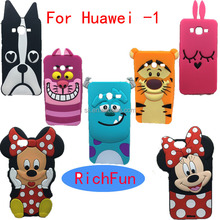 Hot 3D Lovely Cute Cartoon Sulley Cat Tiger Soft Silicon Back Cover Phone Case For Huawei Ascend P6 P7 P8 P9 Lite Y3 Y5 Y6 ii G7