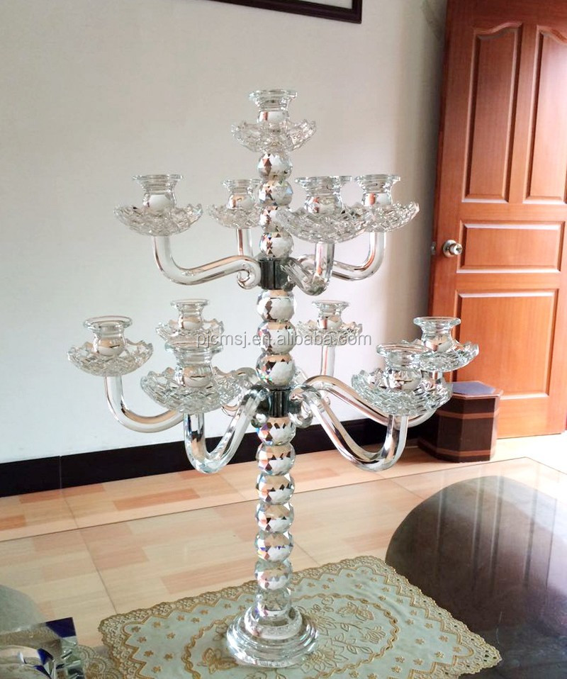 Wedding Crystal Candelabra On Sale For Table Decorations Chm057a