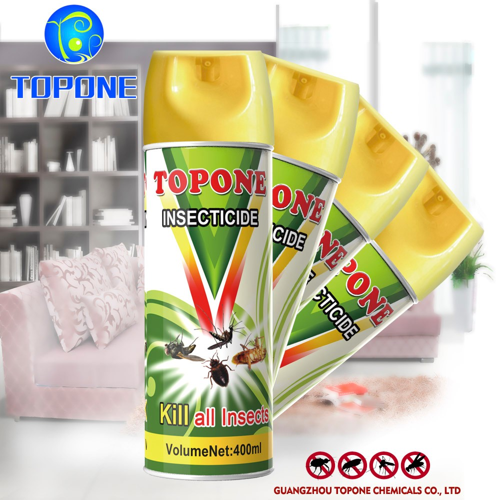 Topone Brand 400ml Free Sample Indoor Household Aerosol Insecticide