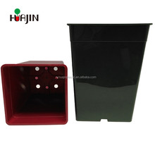 Agricultural greenhouse flower garden plant growing square plastic nursery pots with bottom drainage holes