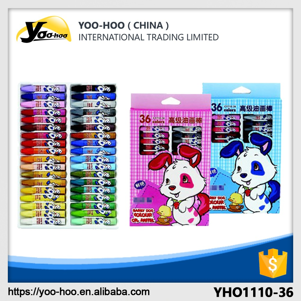 Non-toxic 36pcs Oil pastel box high quality for children art drawing