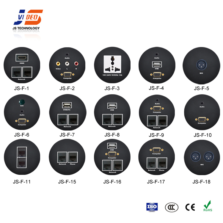 Hotel Room Multi-media Desktop Socket Hdmi Usb Audio Interface Plug Socket