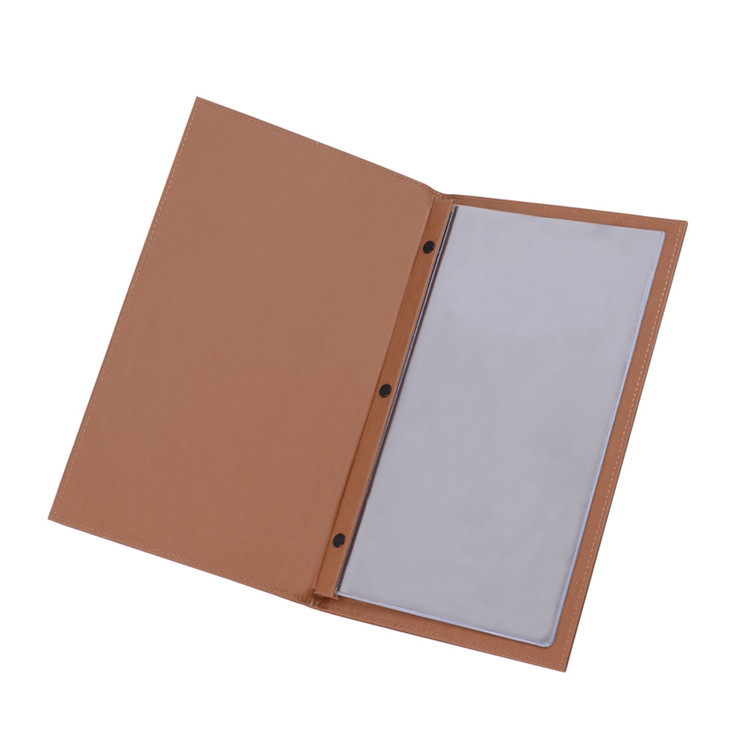 2017 Small Size Customized Restaurant Printed Menu Folder Leather Menu Covers