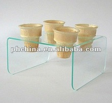 VC-237 4 Capacities Acrylic Ice Cream Cone Holder,PMMA cupcake holder