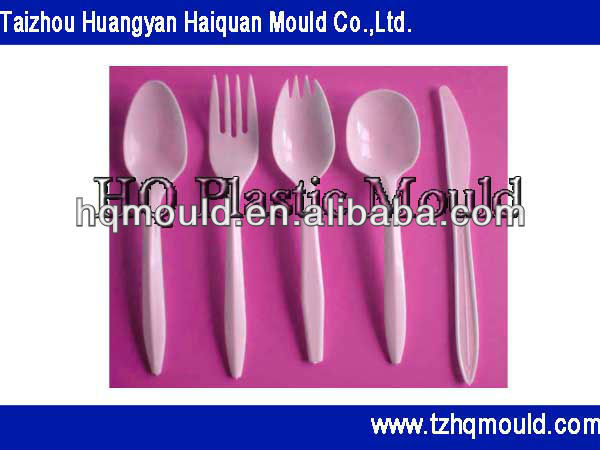 Biodegradable disposable plastic knife fork and spoon mould