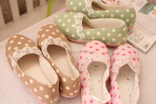 Lovely dot lace spring and summer pregnant women shoes