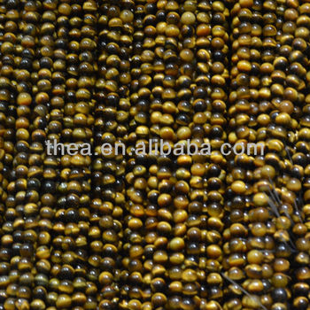 Wholesale alibaba hot selling natural loose beads with tiger-eye like the shower curtain for jewelry making