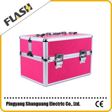 Wholesale Aluminum Portable Jewelry Display Case Makeup Box