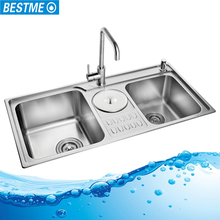 Industrial topmount polished surface treatment inox kitchen sink
