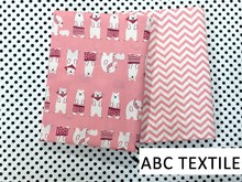 Cheap Price Pink Polar Bear Design Knitted Cotton Baby Bedding Fabric