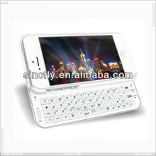 Mini sliding bluetooth keyboard case with backlight for Apple iPhone 5 P-IPH5BLUEKB001