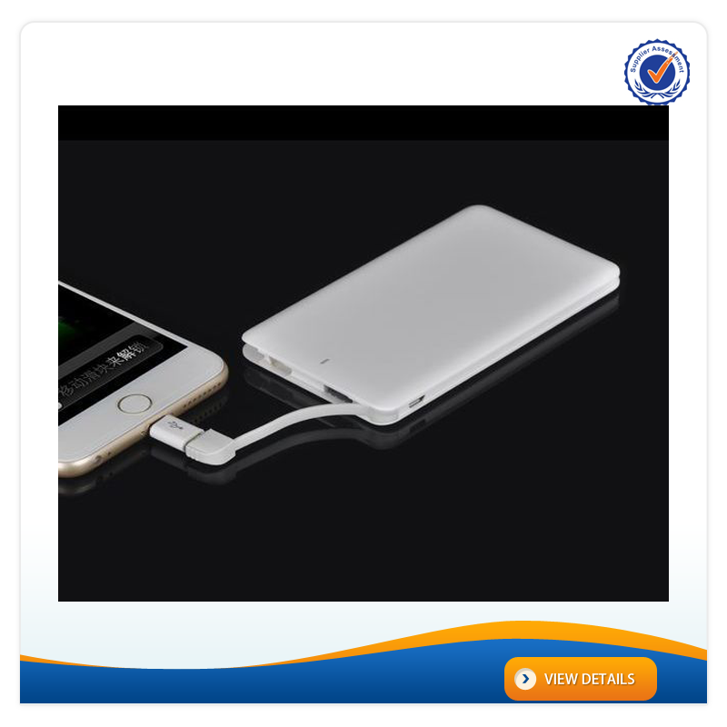 AWC914 High Quality 4000mAh 5000mAh 8.5mm Credit Card Portable Power Pack 3.7v Mobile Phone Battery for iphone 6 Charger