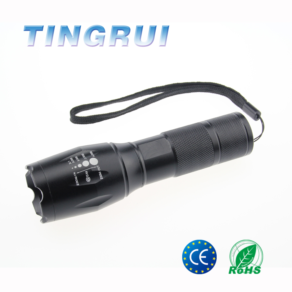 Factory Log Printed Aluminum Portable Rechargeable High Power g700 flash light