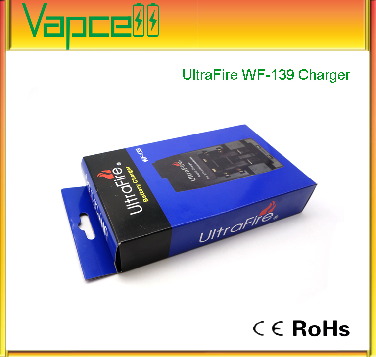 2 slot charger 3.7V charger rechargeable lithium battery charger Ultrafire Wf-139