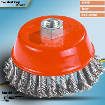 steel wire cup brush for cleaning , polishing,deburring