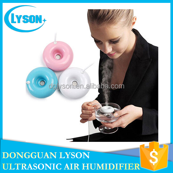 Novelty Portable Float Cool Mist USB Atomizer Donuts Mini Humidifier