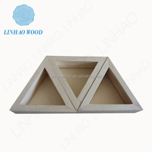 Customize High-grade triangle wooden box