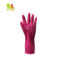 Popular winter latex rubber hand gloves with cotton lined