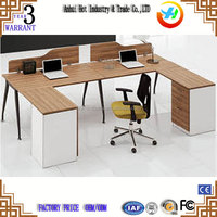 High Quality U-shaped Style Office Furniture High Quality Modern Company Office Table Accessories Staff Working Table