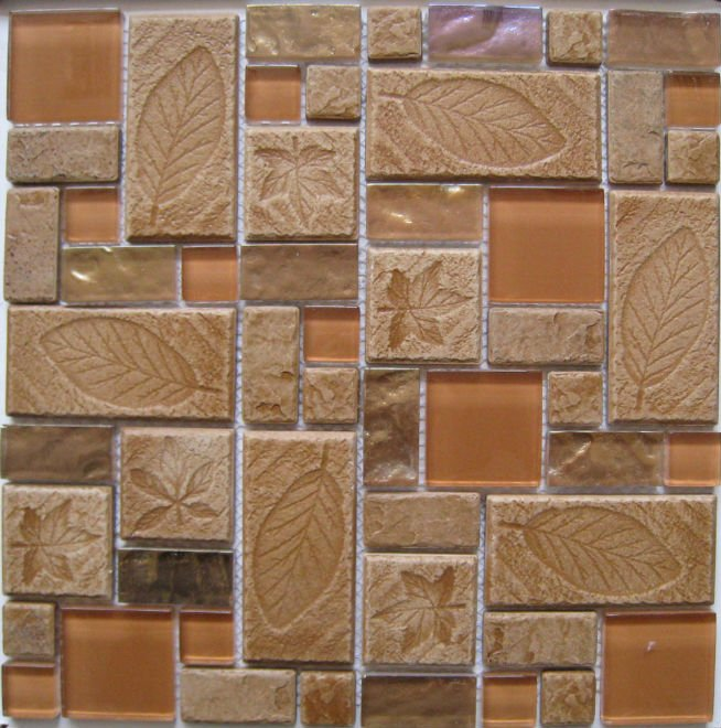 factory price crystal Mosaic, glass mix resin mosaic tile for the wall (GCY102)