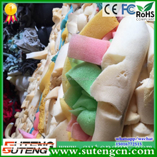 plastic polyurethane memory foam scrap recycled from furniture factory