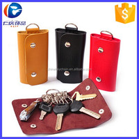 Fashion gifts Keys holder Organizer Leather Buckle Key Wallet Case Car Keychain