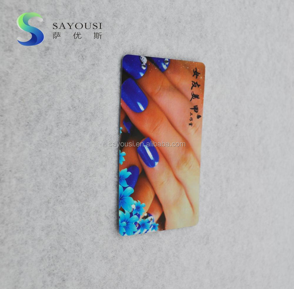 plastic PVC card promotion /nail advertising PP card