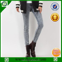 Ocoo Top design fashion snow wash slim fit tight jeans girls skinny jeans for woman