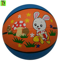 Yiwu Factory made rubber basketball ball Printed Colorful rubber Basketball mini basketball for kid