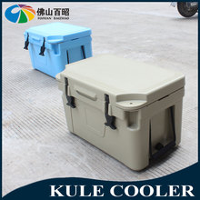 Ice cooler on wheels portable walking cooler box