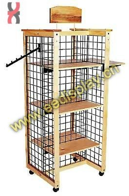 seraphic locked display shelf for shopping mall/simple design display stand for promotion/supermarket/retail/display for store