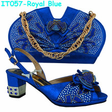 Fashion African Style Italian Designer Shoes And Bags To Match For Ladies(IT057)