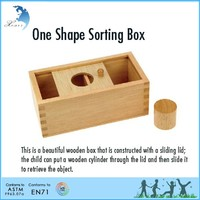 CE ceitificated handmade 3D cube wooden educational Montessori toy One shape sorting box
