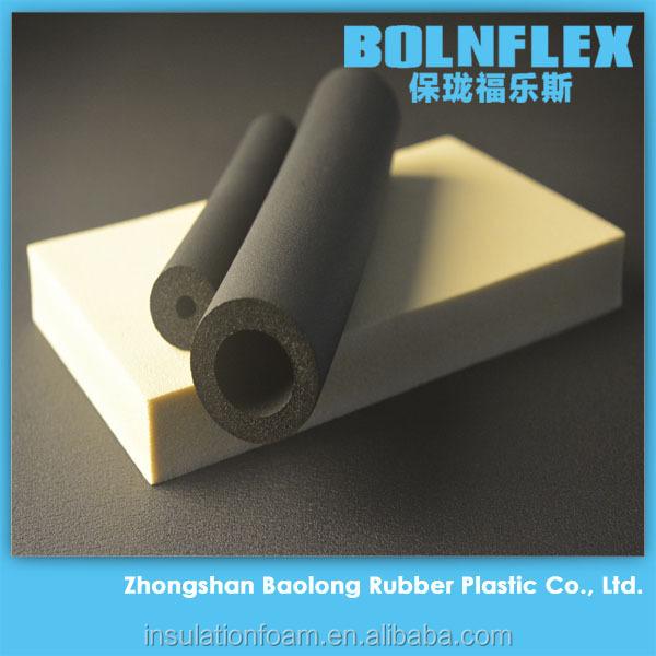 Fire retardant rubber foam insulation heat retardant pipe for Fire rated insulation