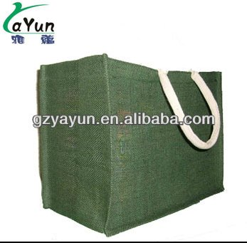foldable shopping trolley jute bag