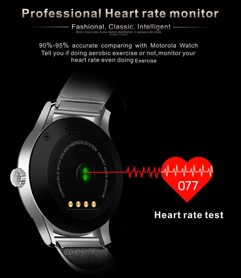Smart Watch IOS Smart Watch Manufacturer K88H BT4.0