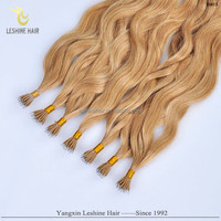 Bulk Buy From China Gold Supplier Best Quality Double Drawn Italy Keratin curly nano ring virgin remy hair extension