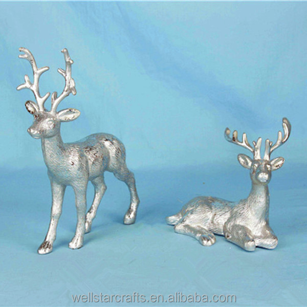 Christmas arts and crafts home party decoration glitter blowout deer supplier