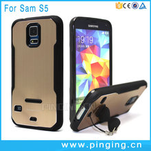 Newest hot selling tpu+metal body mobile phone case for Samsung Galaxy S5 , hybrid slim armor case for Samsung Galaxy S5