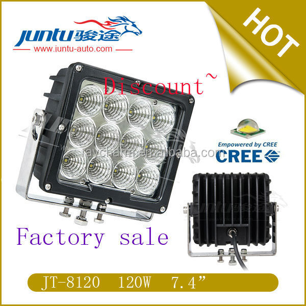 120w 8450lm 7A@12V 3.4A@24V CREE IP67 Waterproof super bright led work lights for truck