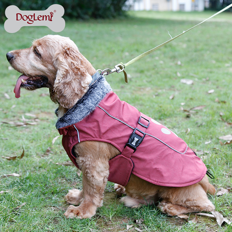 Hot Saling Cold Weather Fleece Lined Sports Dog Pet Vest Clothes Jacket with Reflective Lining and Paw Pet Dog coat