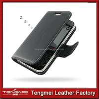 Classic Black PU Leather Stand Case Cover for blackberry z30 case Screen Protector