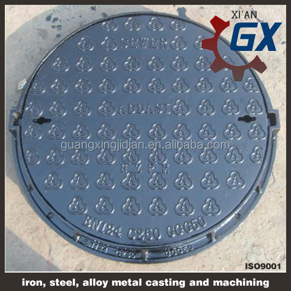 BS EN124 standar Cast iron culvert cover and ductile iron manhole culvert cover