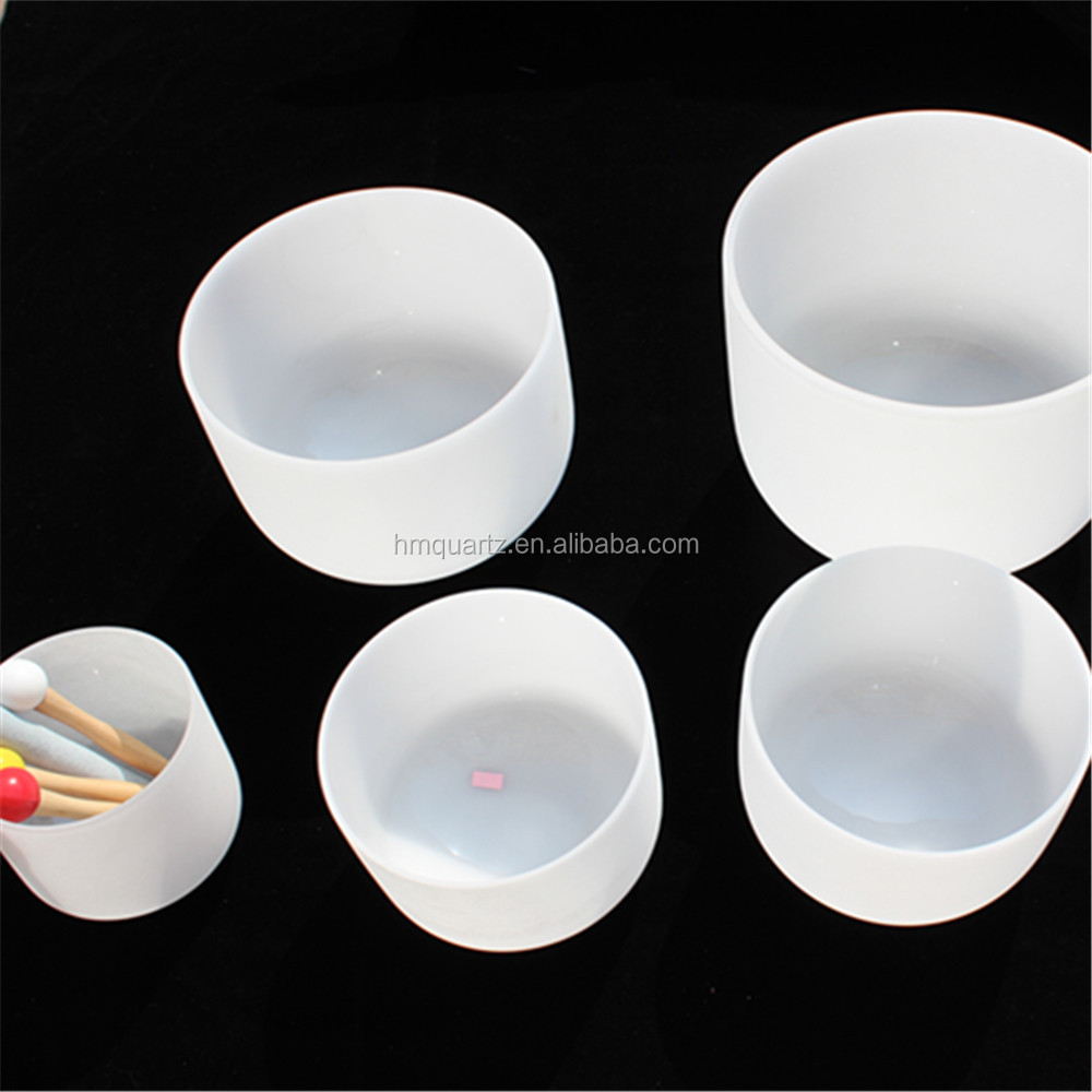 "7pcs Size 8""-<strong>12</strong>"" on7pcs a set of 8""-<strong>12</strong>"" frosted quartz crystal singing bowls C <strong>D</strong> E F G A B note"