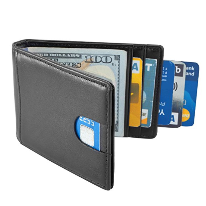 Stylish Custom Print RFID Blocking Slim Leather Wallet for <strong>Mens</strong>