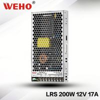 High efficiency smps slim type 200 watts power supply 12v 200w
