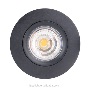 Norge & Sverige 360deg Tilt GYRO Dimmable LED Downlights Black IP44