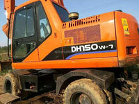 used digger wheel Dossan DH150W-7 very good condition Daewoo wheel excavator