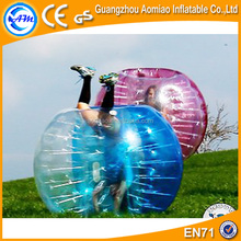 Half color great fun tpu bubble soccer / inflatable belly bumper ball for adults