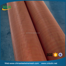 magnetic shielding material 200 mesh red copper / brass / phosphor bronze wire mesh